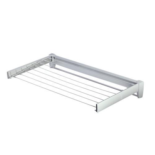 Tendedero barras extensible para pared de plástico de 103x12x6 cm