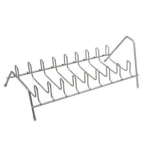 Soporte para tapas 9 niveles blanco 35x12x15 cm