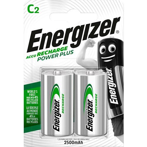 Pack de 2 pilas recargables energizer lr14 c de 2200 mah