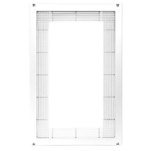 Cerquillo para horno-microondas blanco de pvc de 60x40 cm