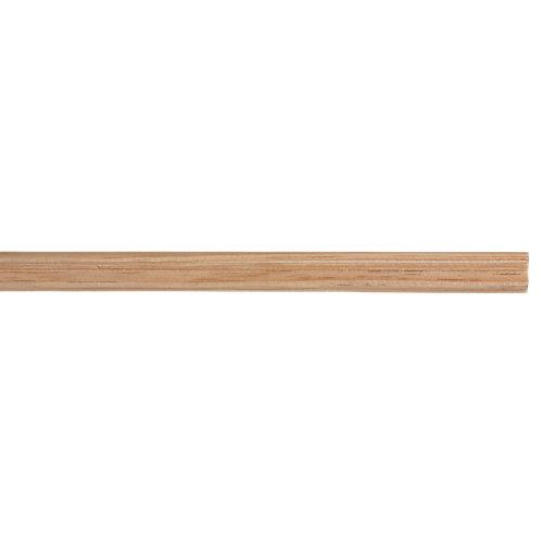 Jamba clasica maciza de pino 18x9 mm x 2,40 m (ancho x grueso x largo)
