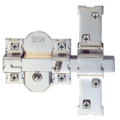 Cerrojo de seguridad botón/llave de 80 mm ancho gris plata