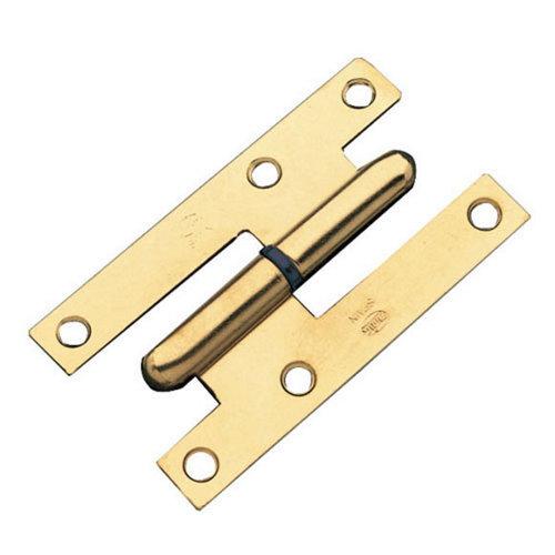 Pernio a derecha de acero de latón y 52x95 mm
