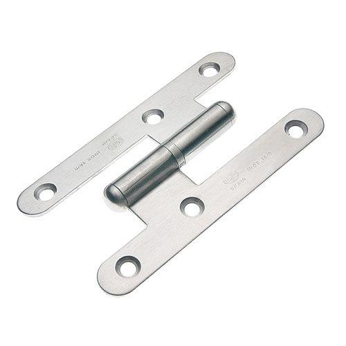 Pernio a izquierda de acero cepillado y 58x100 mm