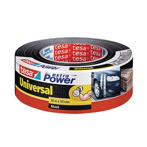 Cinta adhesiva de reparación extra power negro 50m x 48mm