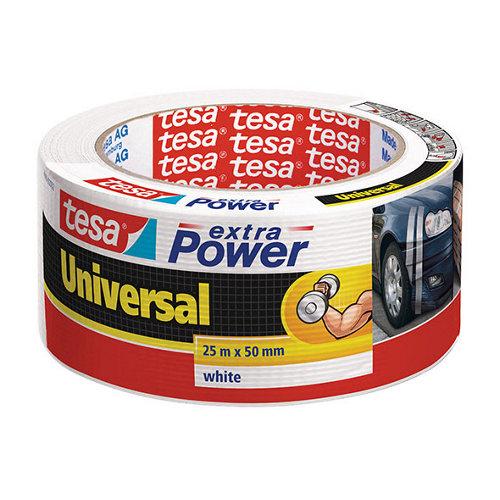 Cinta adhesiva de reparación extra power blanco 25m x 50mm