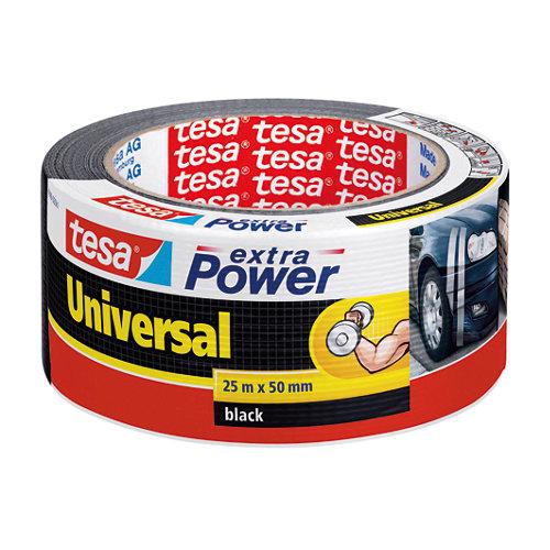 Cinta adhesiva de reparación extra power negro 25m x 48mm