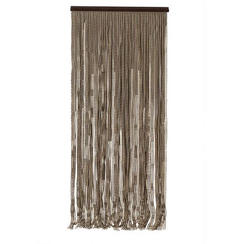 Cortina de puerta formentera marfil y marrón 90x210 cm
