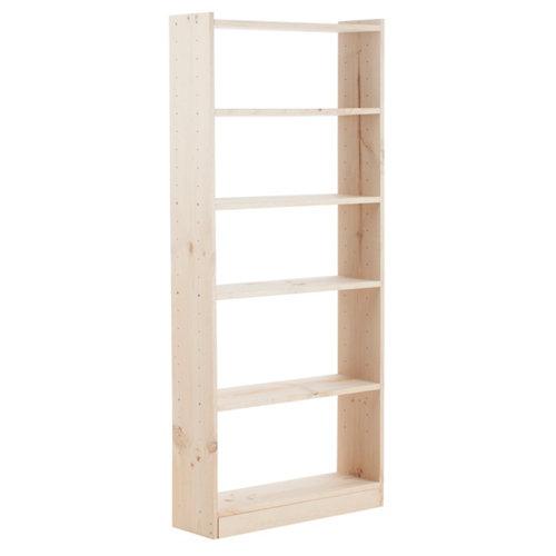 Estantería de madera en kit gala de 80x184,7x25 cm y carga max, 100 kg por balda