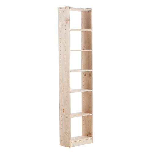 Estantería de madera gala madera natural de 50x216,7x25 cm