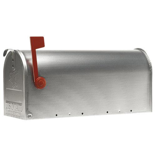 Buzón de aluminio en gris / plata de 22x48x17 cm