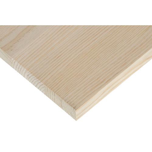 Tablero macizo de pino de 25x120x2,8 cm