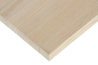 Tablero macizo de pino de 30x240x2,8 cm