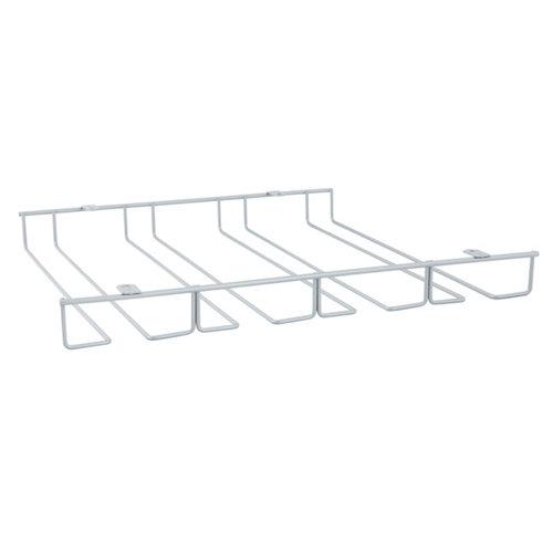 Escurrecopas para mueble de cocina bajo de acero color gris 36 x 4 x 29 cm