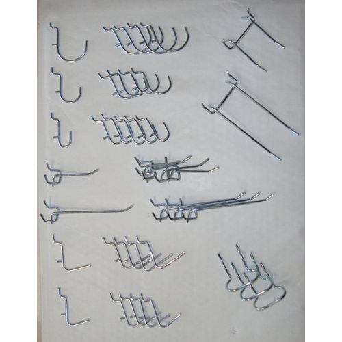 40 ganchos de acero de 12x18,5x2 cm