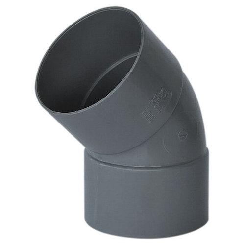 Codo de pvc de ø50 mm 45º h-h