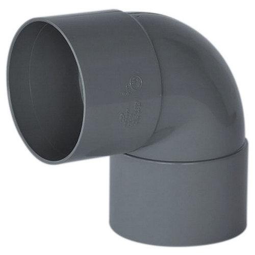 Codo de pvc de ø50 mm 87º h-h