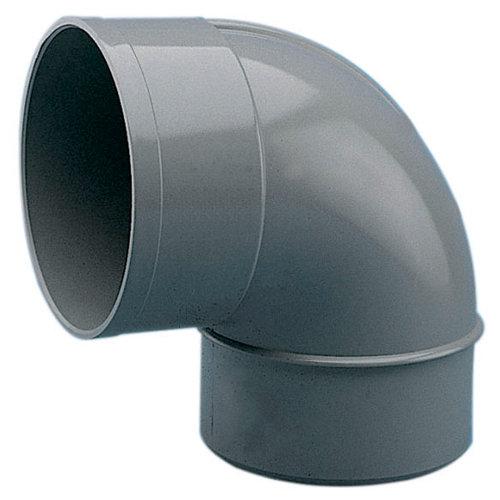 Codo de pvc de ø50 mm 87º m-h