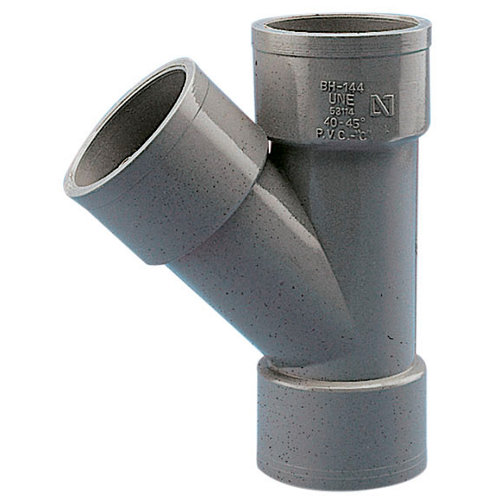 Injerto de pvc de ø32 mm 45º h-h