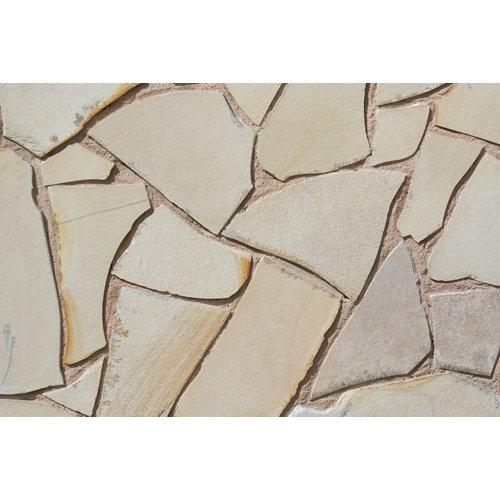 Piedra crema fosil para 1 m²
