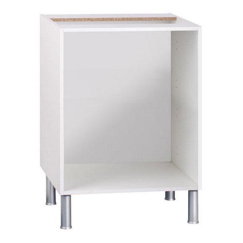 Mueble bajo para horno basic blanco fabricado en aglomerado 60 x 70 + 16 cm
