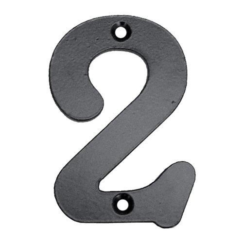 Número de señalización de puerta de acero de 6.8x10x0.5 cm