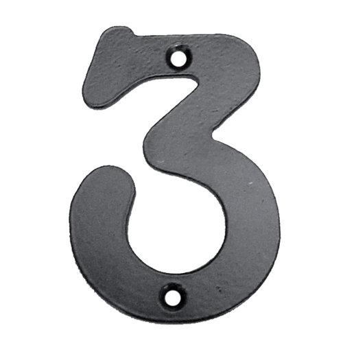 Número de señalización de puerta de acero de 7x10x0.5 cm