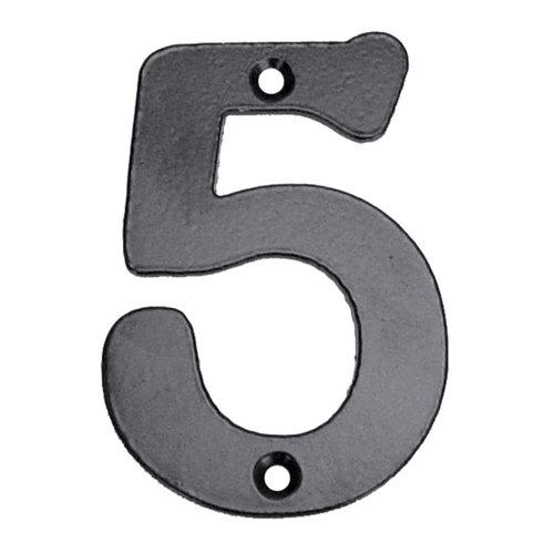 Número de señalización de puerta de acero de 7.5x10x0.5 cm