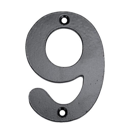 Número de señalización de puerta de acero de 7.2x10x0.5 cm