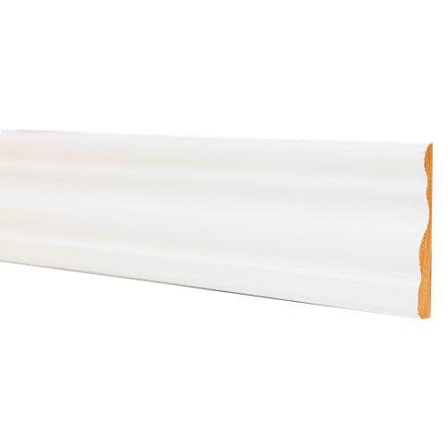 Jamba de mdf melamina blanca 70x10 mm x 2,25 m (ancho x grueso x largo)