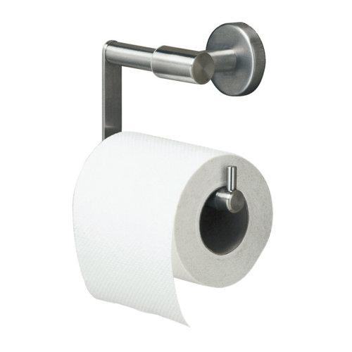Portarrollos de baño boston acero mate 6.3x10.8x13.7 cm