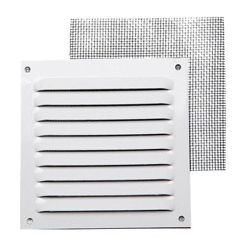Rejilla de ventilación de aluminio lacado de 10x10x0.6 mm