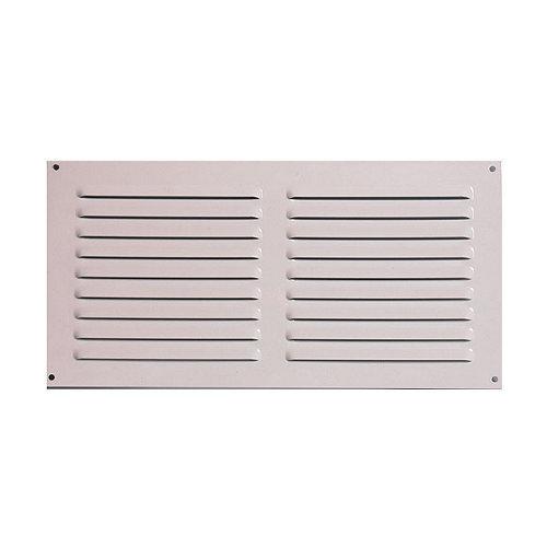 Rejilla de ventilación de aluminio lacado de 30x15x0.6 mm