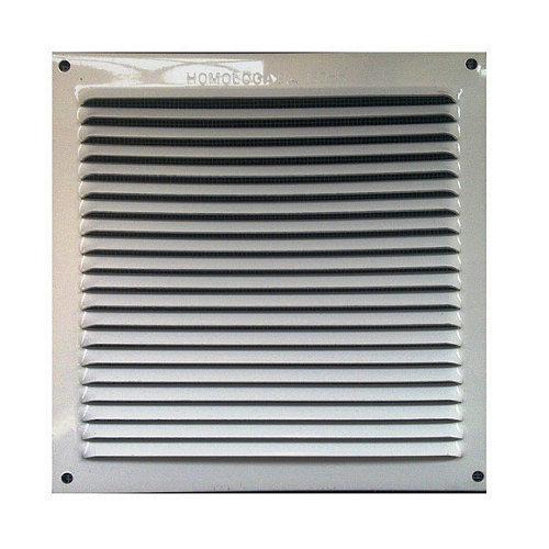 Rejilla de ventilación de aluminio lacado de 17x17x0.6 mm