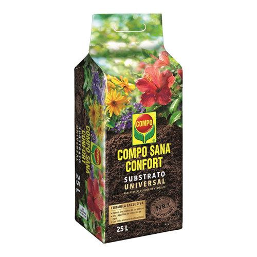 Sustrato universal compo sana para todo tipo de plantas en bolsa confort 25l