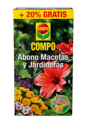 Abono macetas y jardineras COMPO para todo tipo plantas 250+50gr gratis