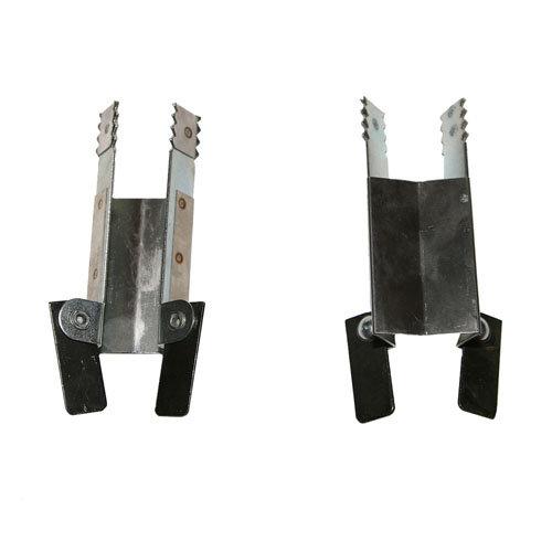 2 pinza de seguridad para persiana de acero galvanizado de 60x160 mm