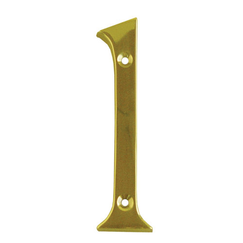 Número de señalización de puerta de latón de 2.6x10x0.5 cm