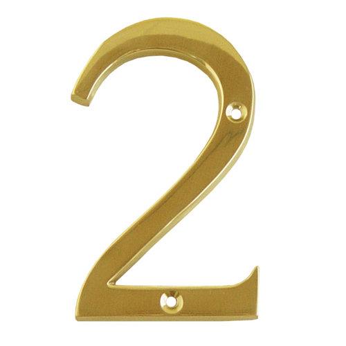 Número de señalización de puerta de latón de 6x10x0.5 cm