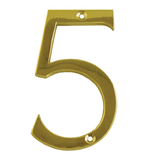 Número de señalización de puerta de latón de 6.5x10x0.5 cm