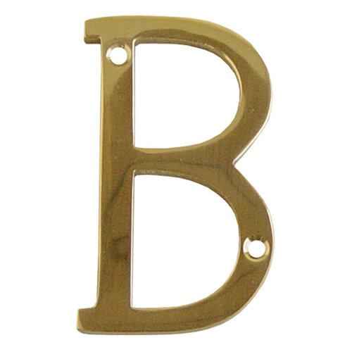 Letra de señalización de puerta de latón