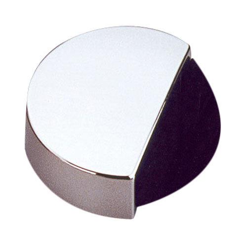 Tope de puerta para fijar en el suelo cromado de 4x1,4x4 cm