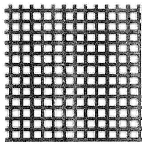 Chapa metálica de acero de 50x50 cm y 0.1 mm espesor