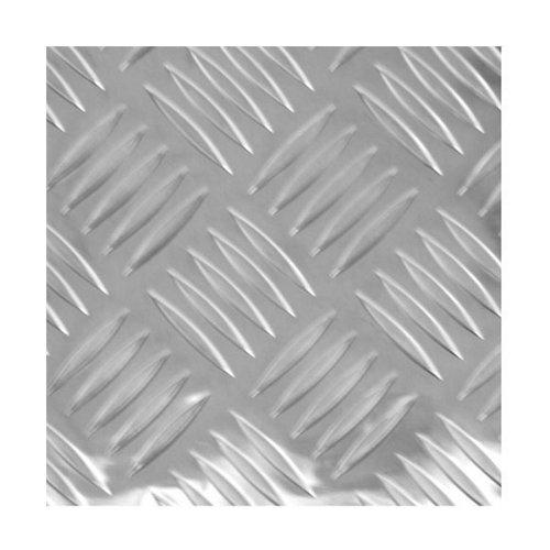 Chapa metálica de aluminio de 25x50 cm y 0.15 mm espesor