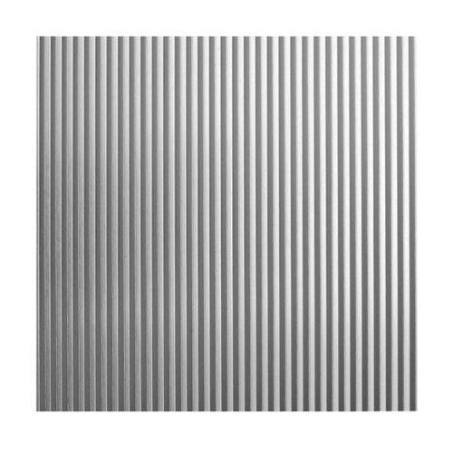 Chapa metálica de aluminio de 50x50 cm y 0.5 mm espesor