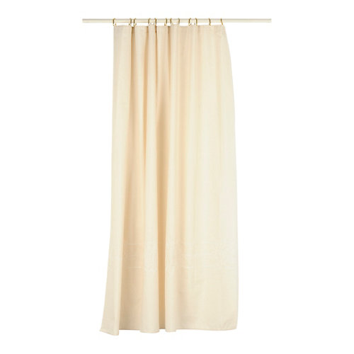 Cortina de baño cordele beige lino+poliéster 180x200 cm