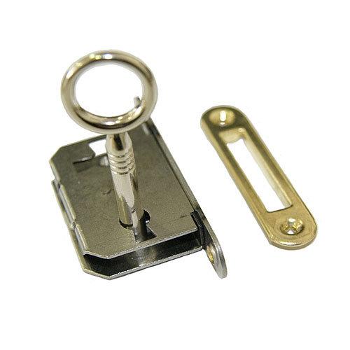 Cerradura de mueble con llave en acero de latón