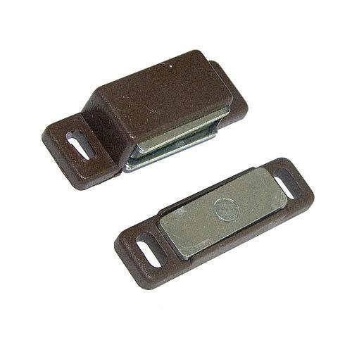 Cierre imán magnético de plástico marrón y 20x15 mm