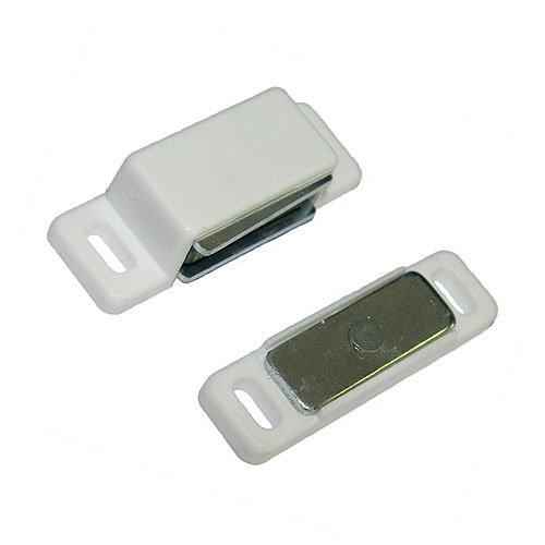 Cierre imán magnético de plástico blanco y 20x15 mm