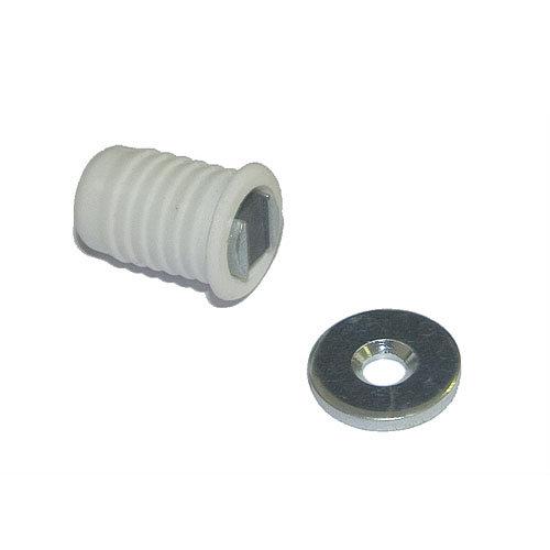 Cierre imán magnético de plástico blanco y 15x20 mm